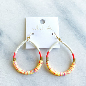 Kelly Disc Accent Earrings