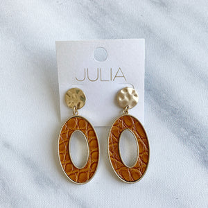Paola Leather Accent Earrings