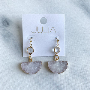 Mila Drusy Accent Earrings