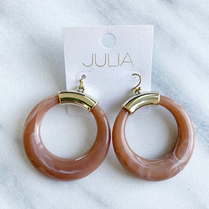 Marie Acrylic Statement Hoops