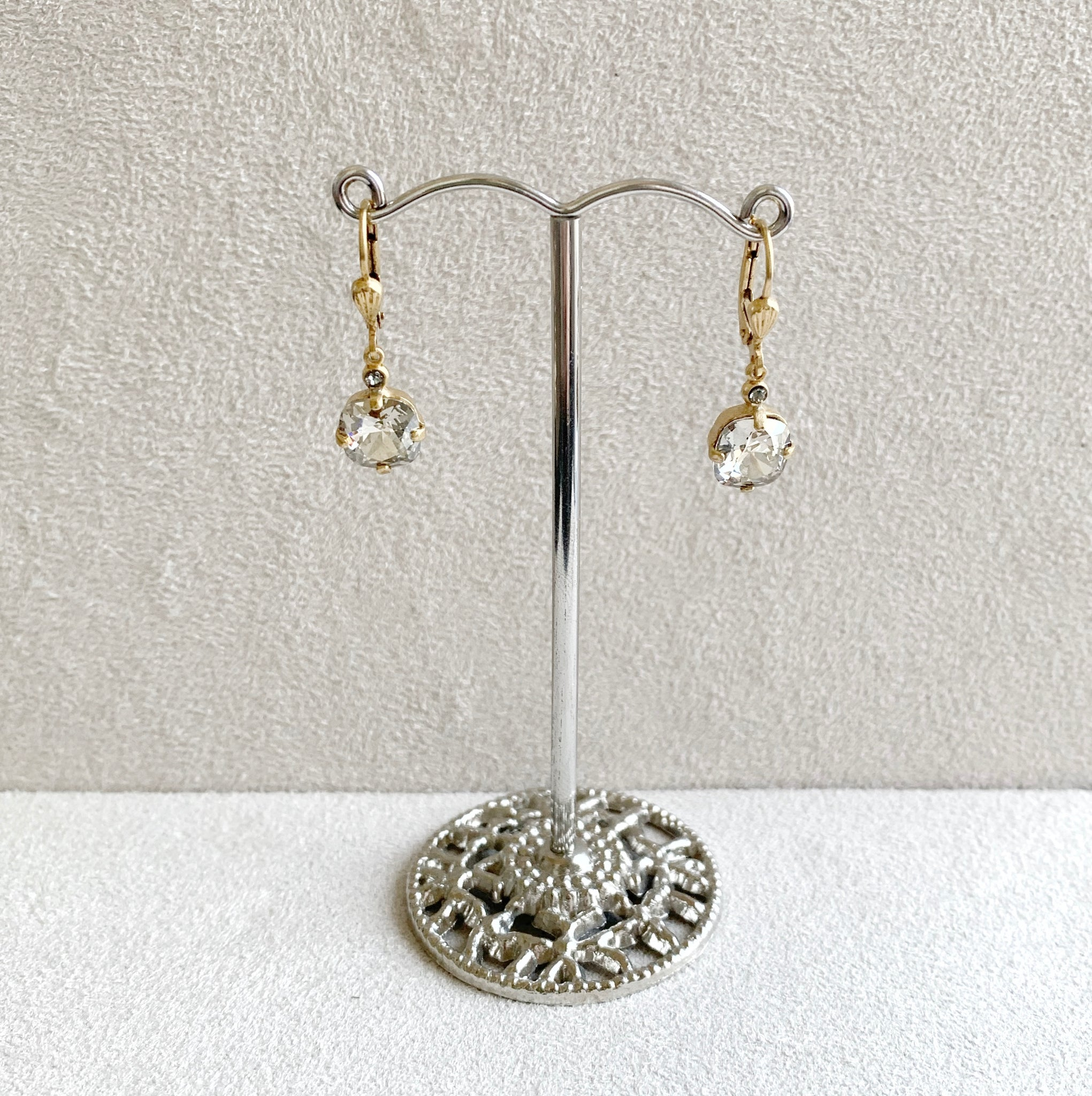 Petite Crystal Dangle Earrings in Shade