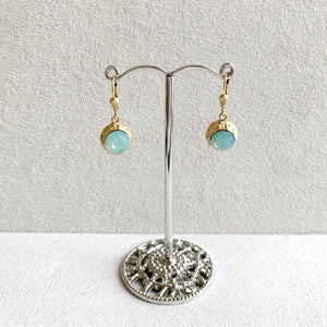 Two-Sided Crystal Ball Earrings in Pacific Opal