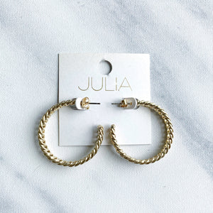 Tyra Braided Chain Hoops