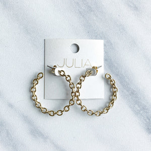 Myra Chain Link Hoops