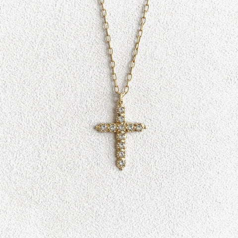 Clear Crystal Cross Necklace