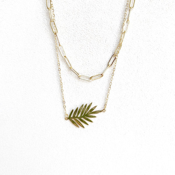 Getty Layered Leaf Necklace