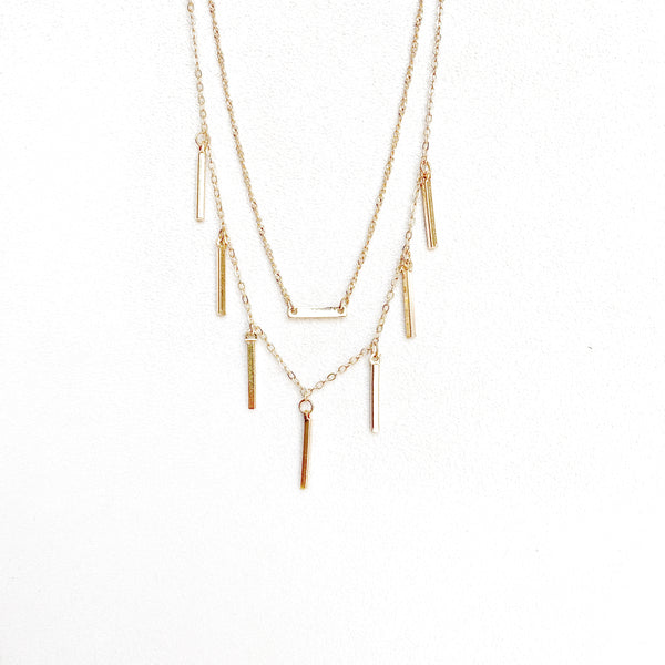 Yardley Pre-Layered Bar Necklace