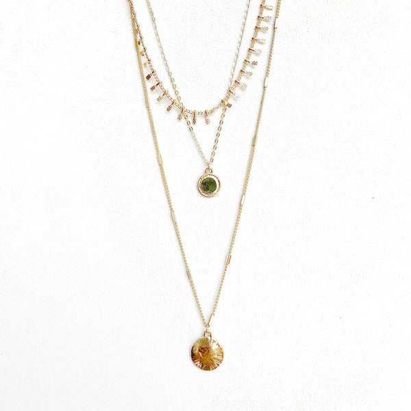 Lorna Pre-Layered Circle Necklace