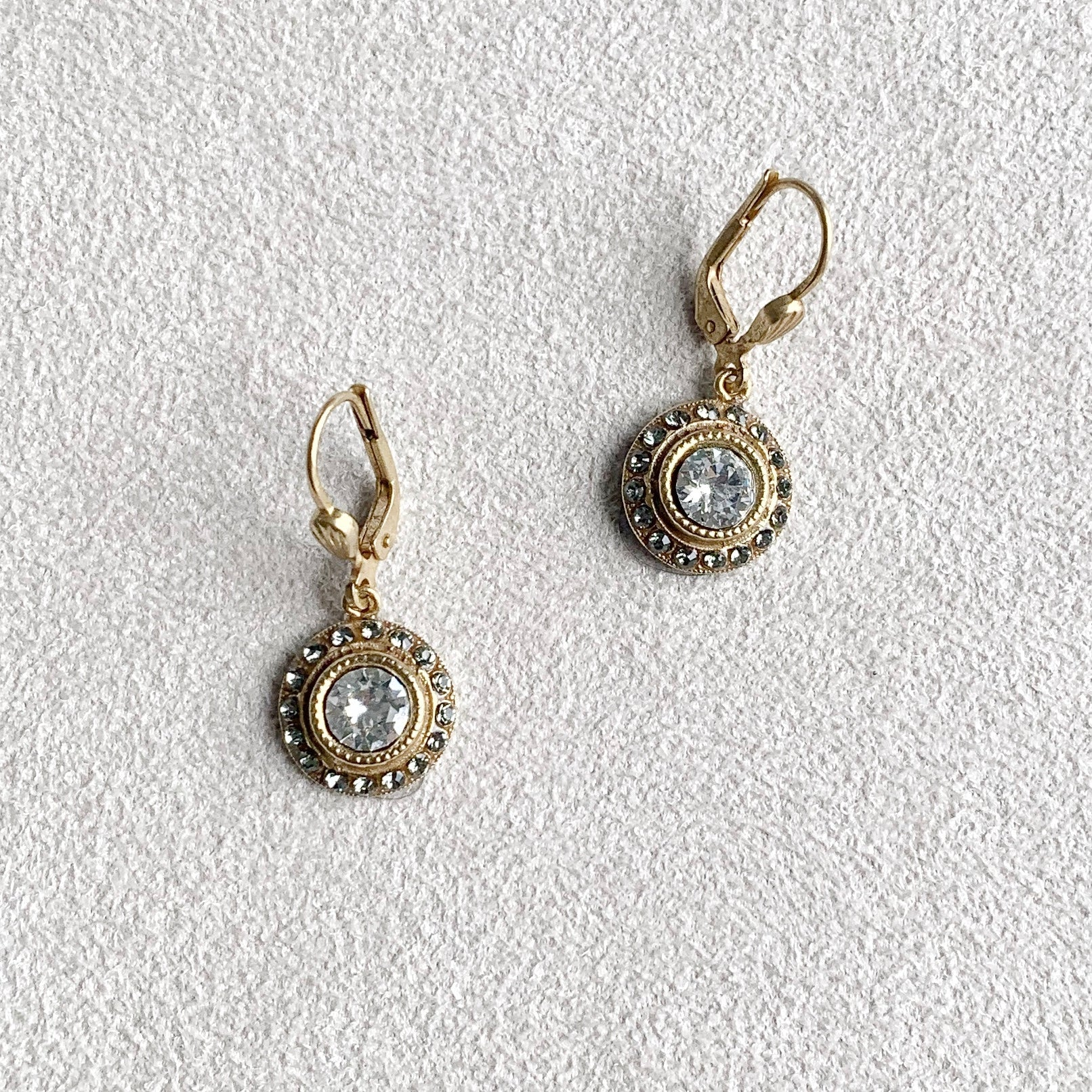 Small Round Dangle Earrings in Shade