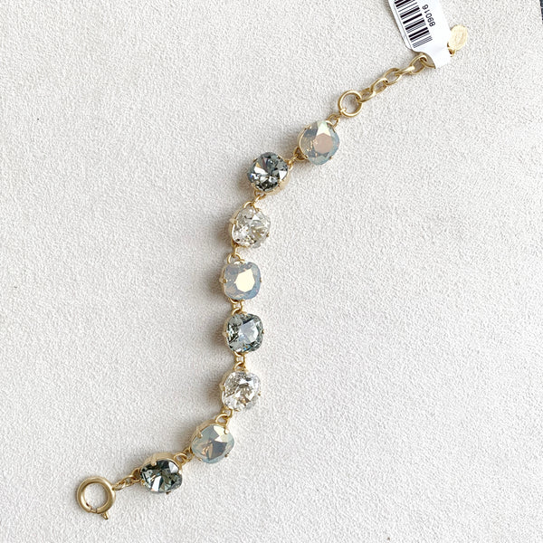 12mm Large Stone Crystal Bracelet in Shade