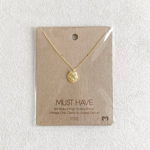 Jeweled Seashell Necklace