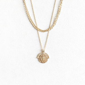Everett Layered Coin Necklace