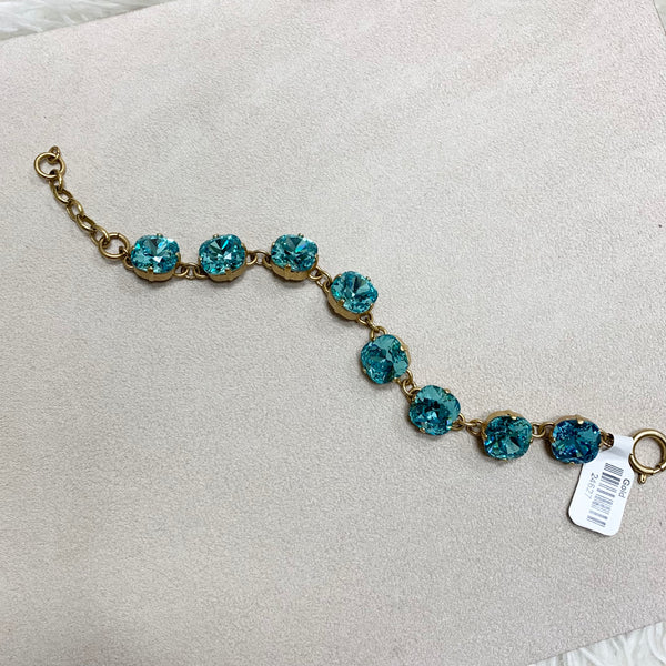 12mm Large Stone Crystal Bracelet in Teal