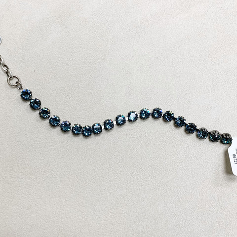 Small Stone Crystal Bracelet in Midnight Blue