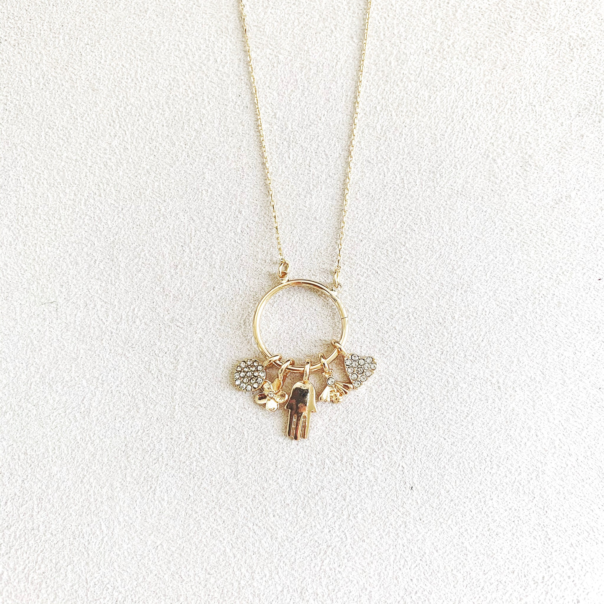 Misha Hanging Charm Necklace