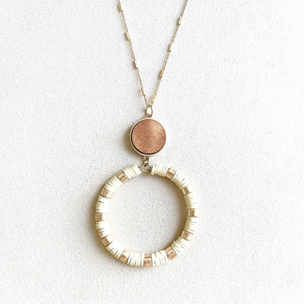 Eliza Long Necklace in Gold