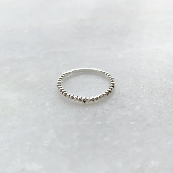 Dainty Metal Bead Ring