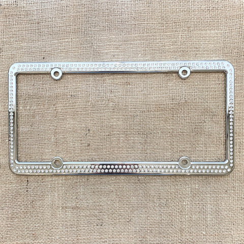 256 Swarovski Crystal License Plate Frame