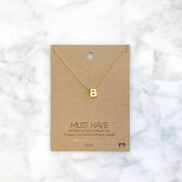 """B"" Initial Necklace"