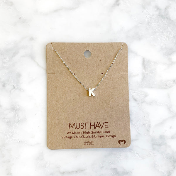 """K"" Initial Necklace"