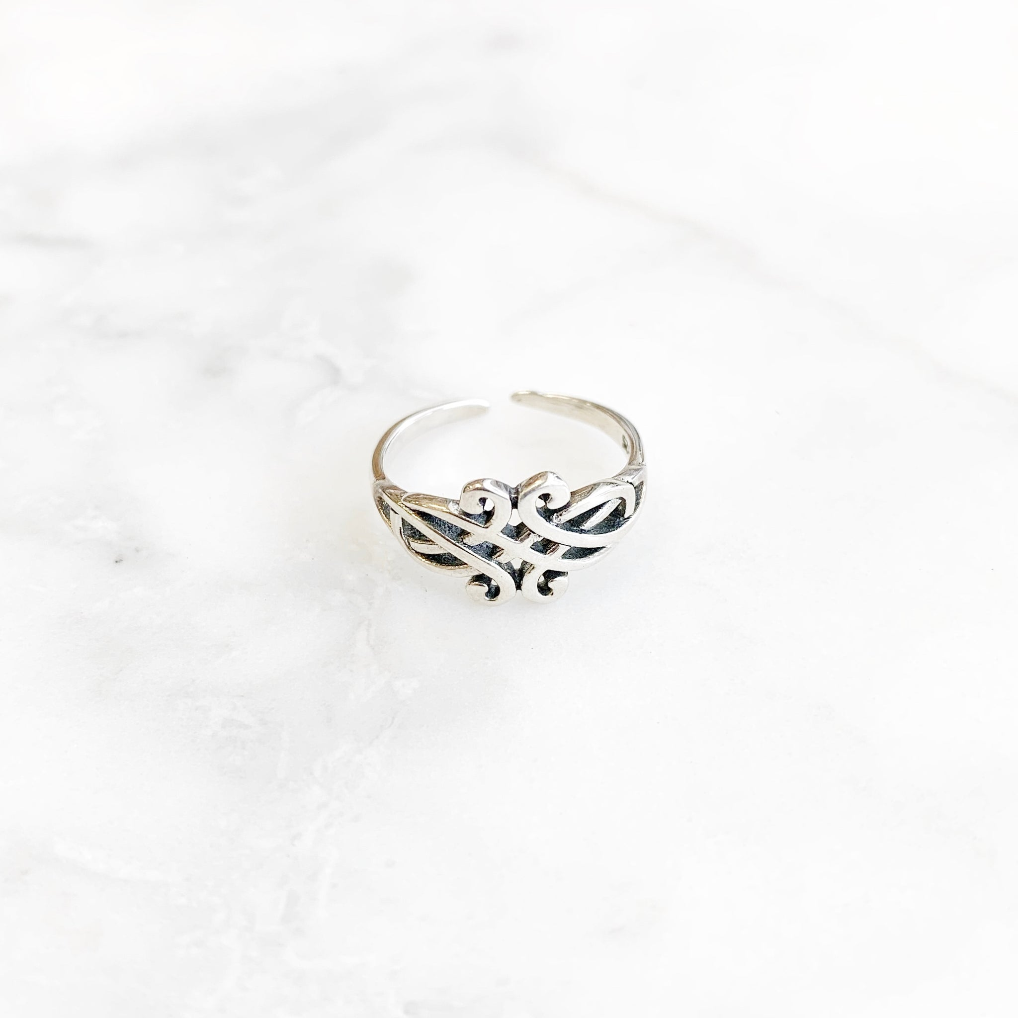 Sterling Silver Pattern Toe Ring