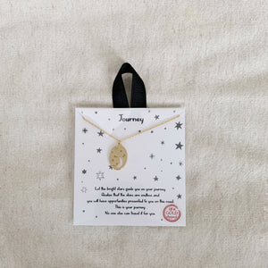 Journey Moon Coin Necklace