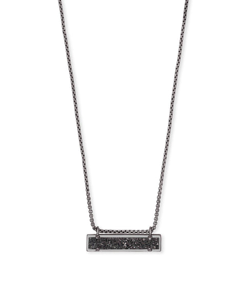 Leanor Gunmetal Pendant Necklace