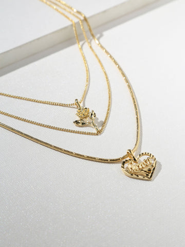 The Cielo Rose & Amor Necklace