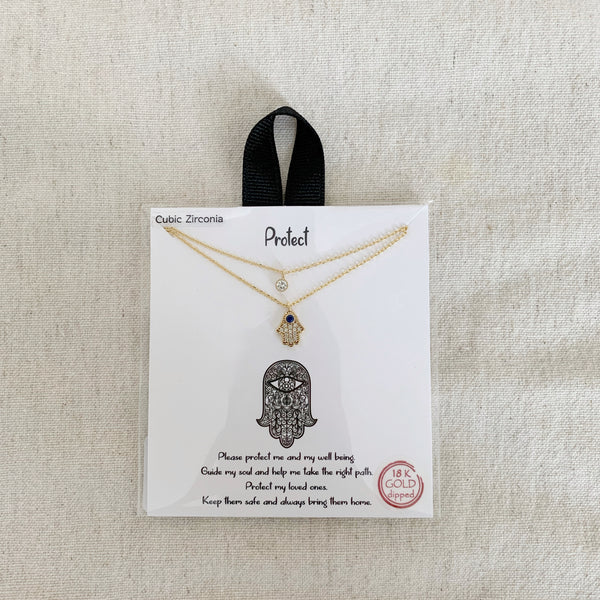 Protect Hamsa Necklace