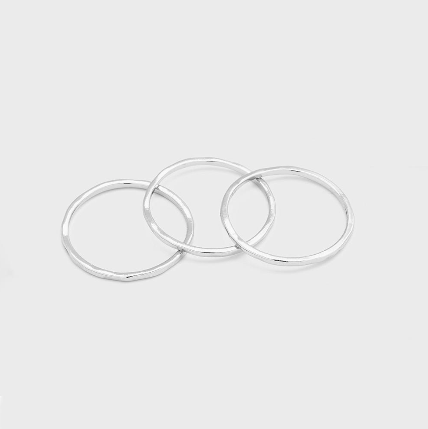 G Ring Set in Silver