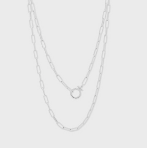Parker Wrap Necklace in Silver