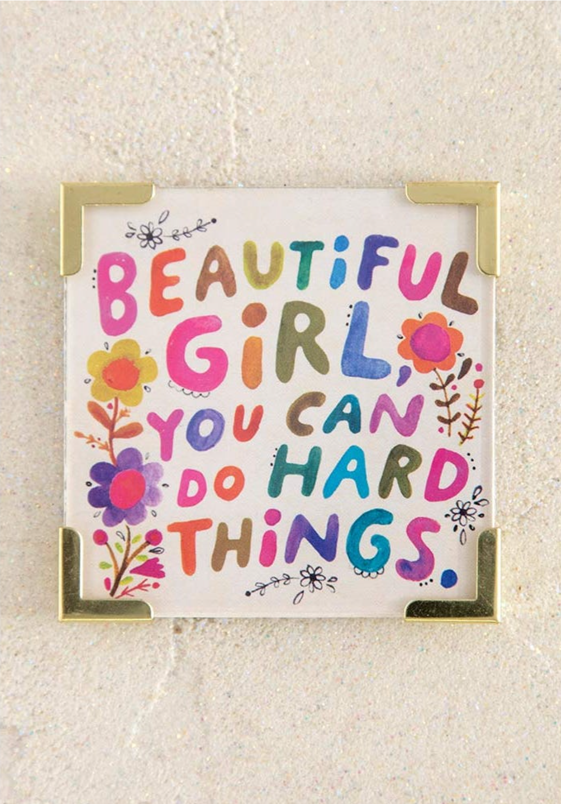 Beautiful Girl Corner Magnet
