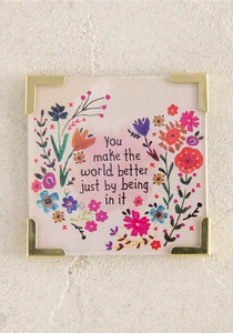 Make The World Better Corner Magnet