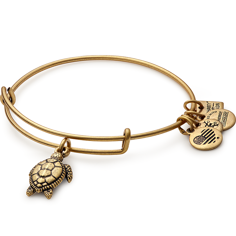 Sea Turtle Charm Bangle