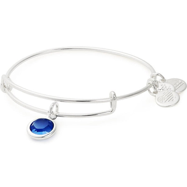 Birthstone Charm Bangle - September (Sapphire)