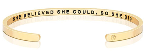 She Believed She Could, So She Did (within) Bracelet