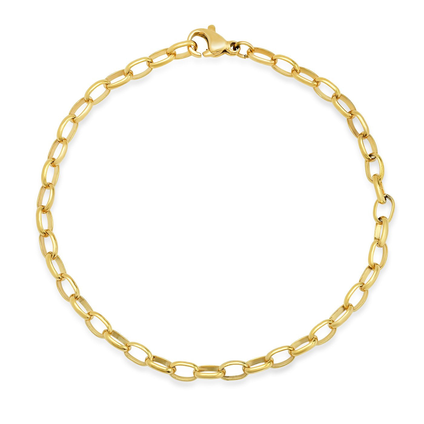 Oval Cable Chain Link Bracelet