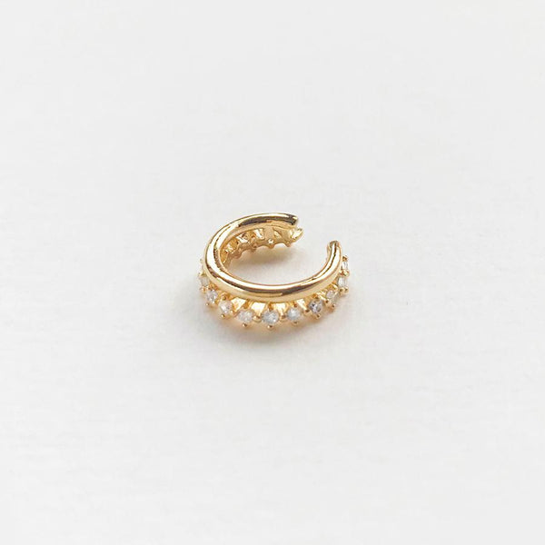 Double Pave Gold Ear Cuff