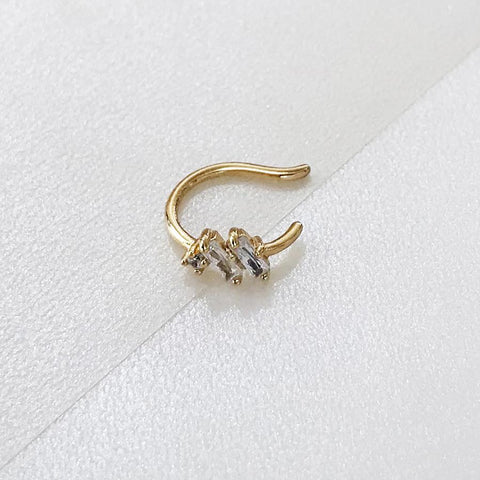 Lumiere Pave Gold Ear Cuff
