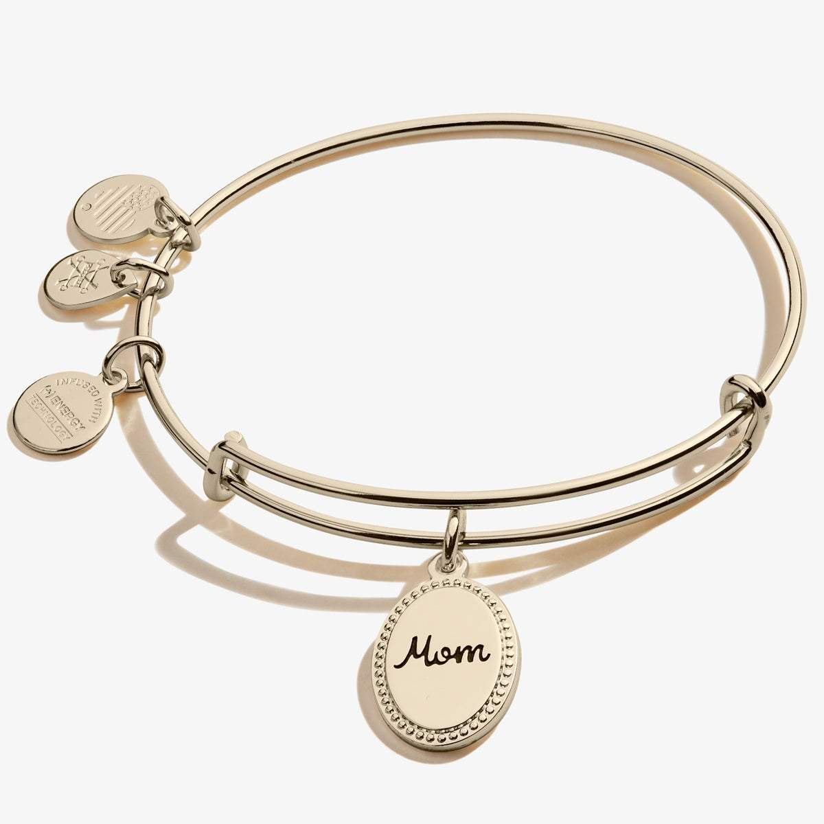 Mom, 'Bonded by Love' Charm Bangle in Gold
