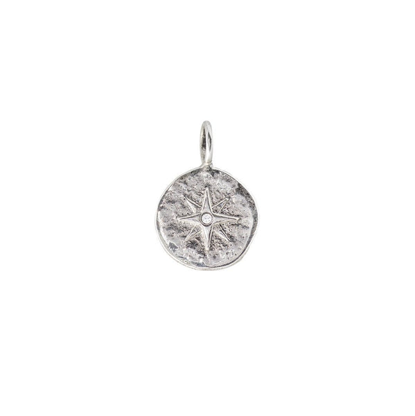 Axiom Charm - Sterling Silver - Compass