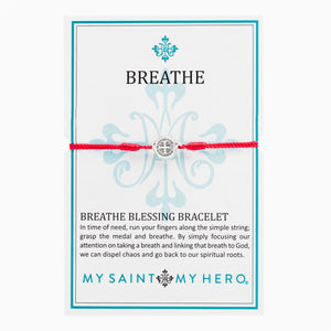 Breathe Blessing Bracelet with Silver Medallion