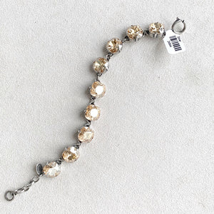 12mm Large Stone Crystal Bracelet in Champagne