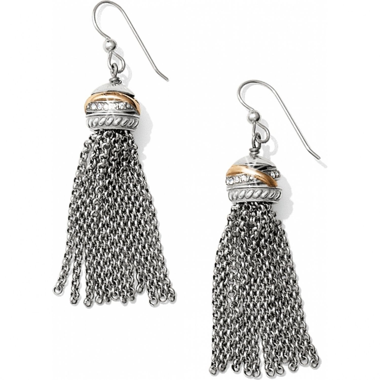 Neptune's Rings Tassel French Wire Earrings