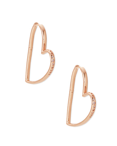 Ansley Rose Gold Hoop Earrings