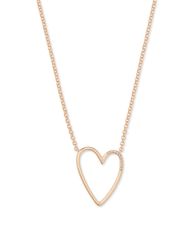 Ansley Rose Gold Pendant Necklace