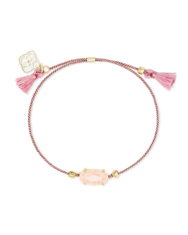 Everlyne Pink Cord Friendship Bracelet In Rose Quartz