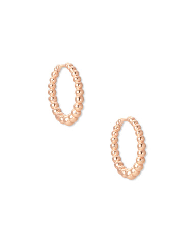 Josie Rose Gold Huggie Earrings