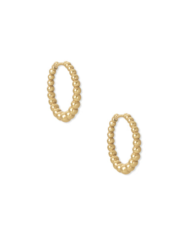 Josie Vintage Gold Huggie Earrings