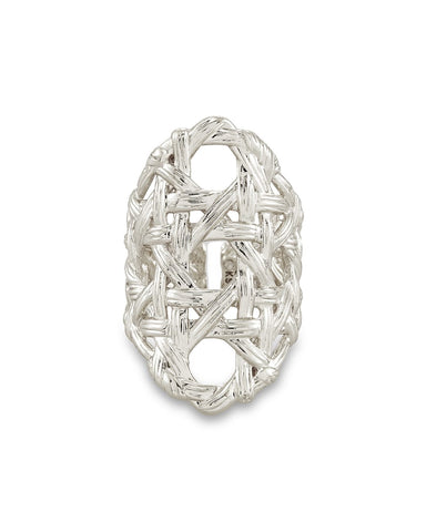 Natalie Statement Ring In Silver